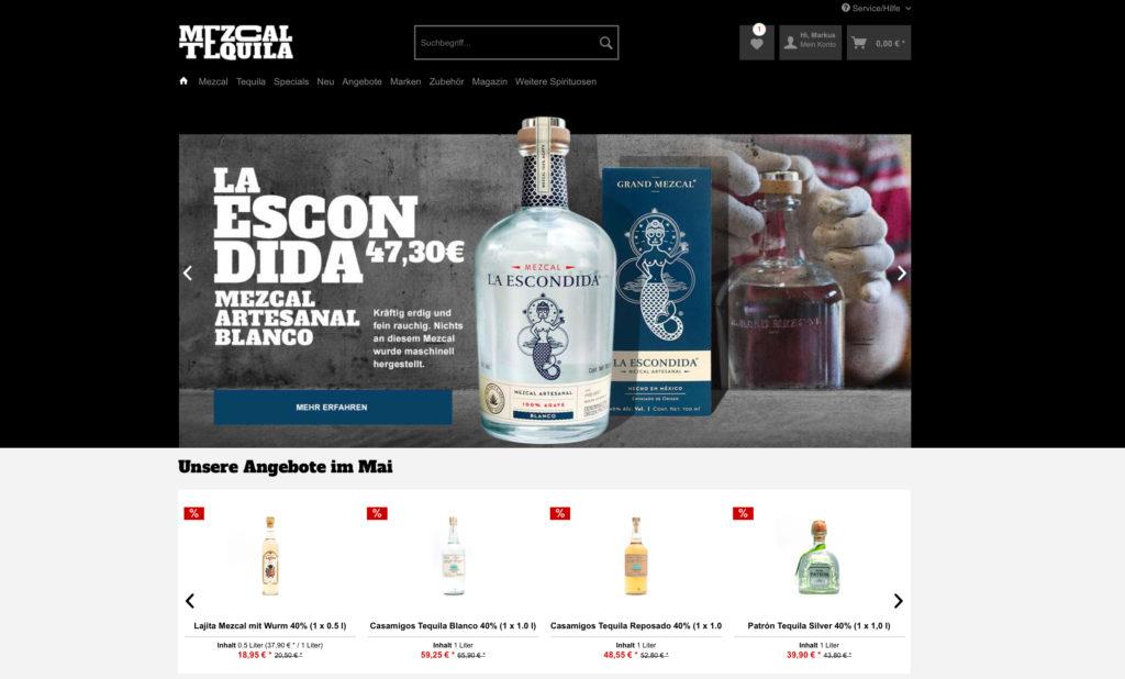 Der Webshop ist seit März 2019 online: mezcal-tequila.de