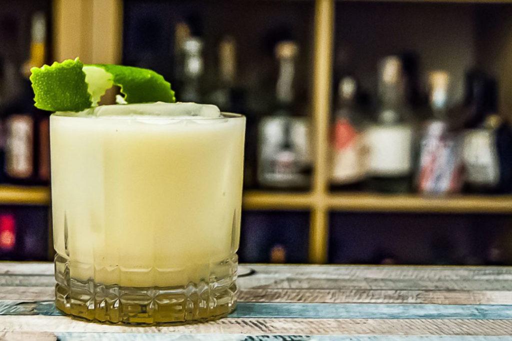 Eine Buttermilch-Margarita. Cocktail Rezept ist unten verlinkt Tipp!.