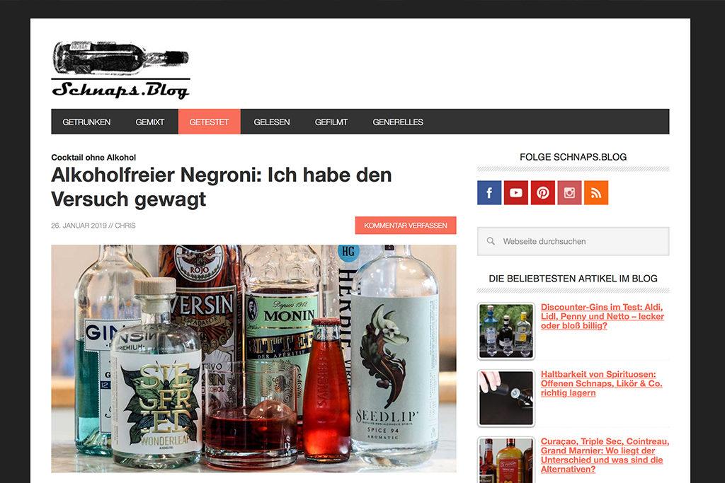 Schnaps.Blog - Screenshot.