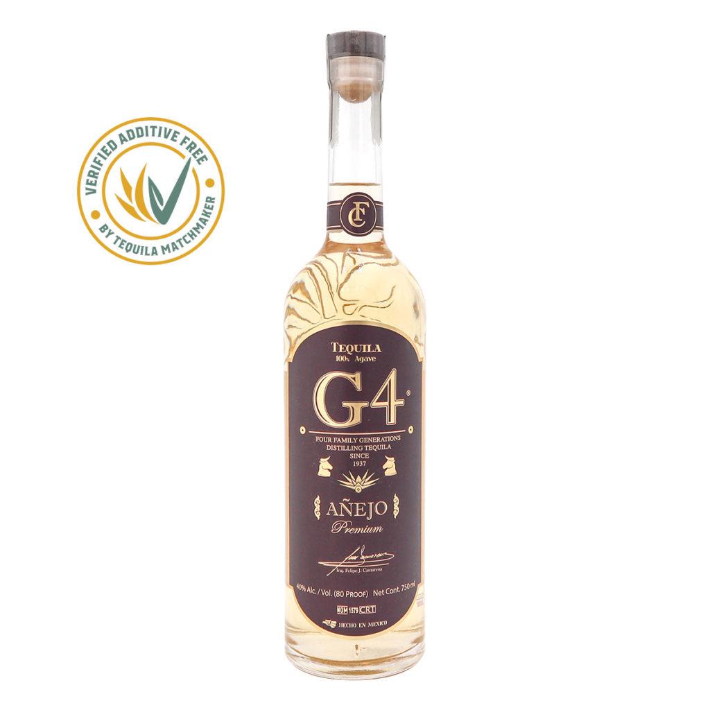 G4 Tequila Anejo.40% Alk.vol, 700ml. Premium Tequila.