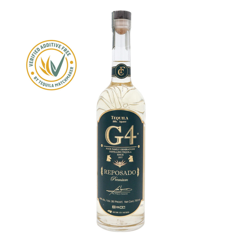 G4 Tequila Reposado. 40% Alk.vol, 700ml. Premium Tequila.
