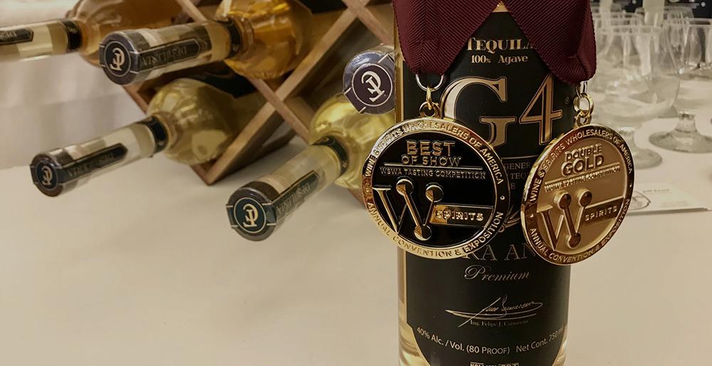 G4 Tequila - Preise gewonnen - ohne Ende. Best of Show. Double Gold...