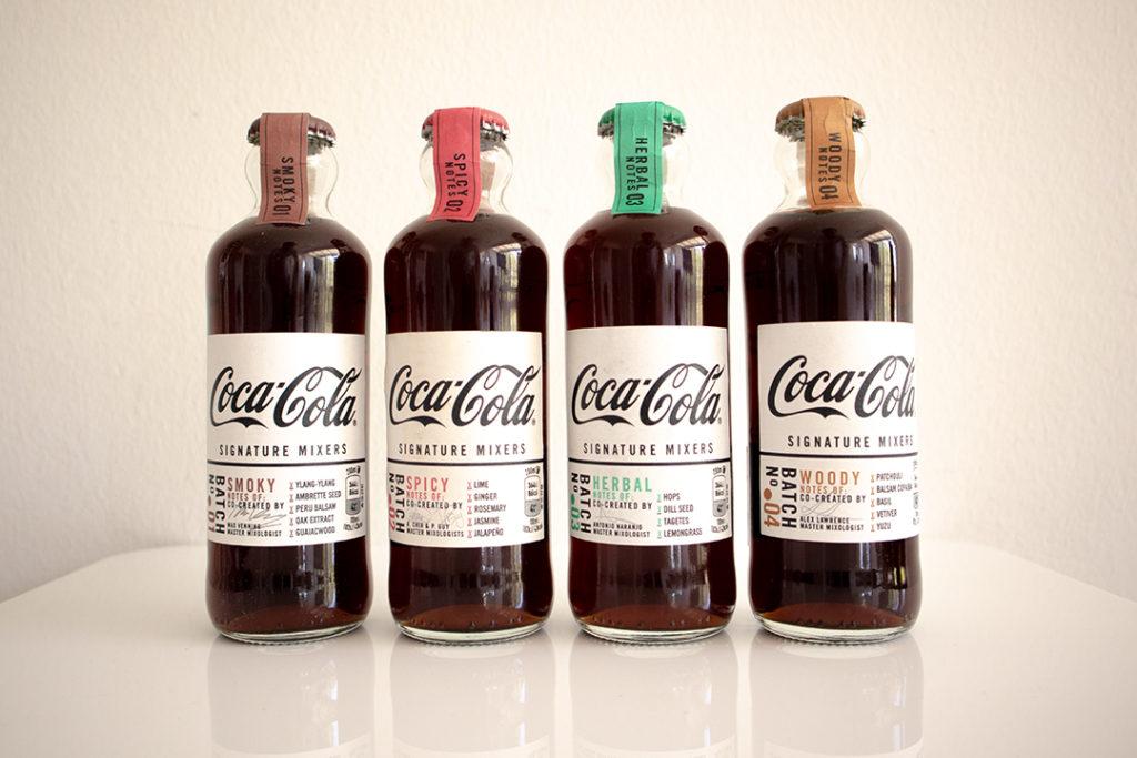 Die 4 Signature Mixers von Coca Cola.