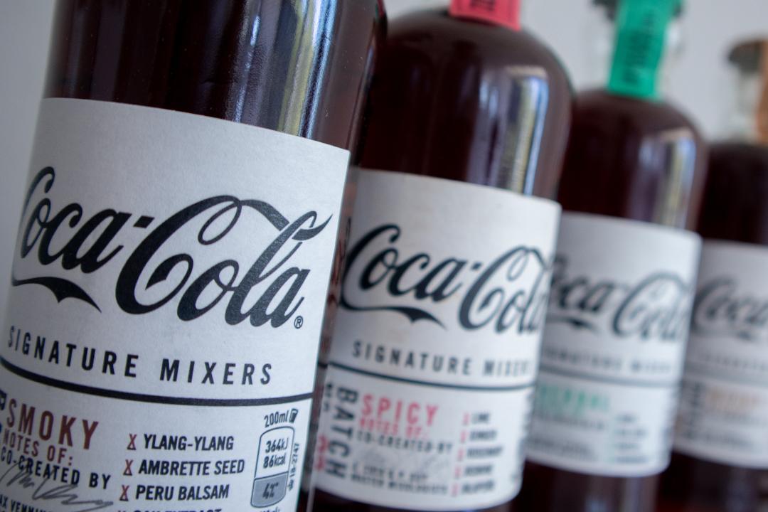 Die 4 Signature Mixers von Coca Cola