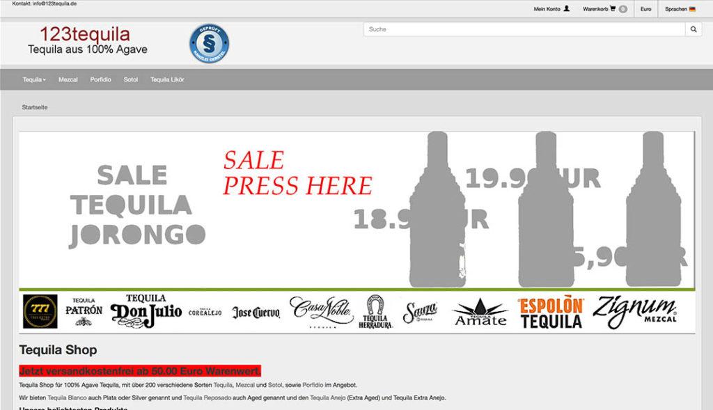 123tequila - online shop