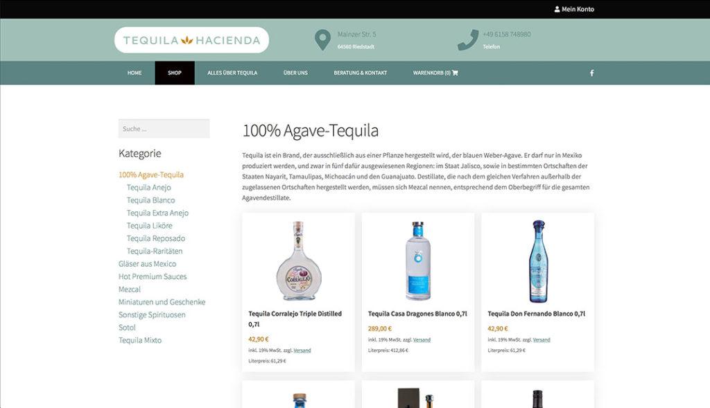 Tequila Hacienda - Tequila Shop