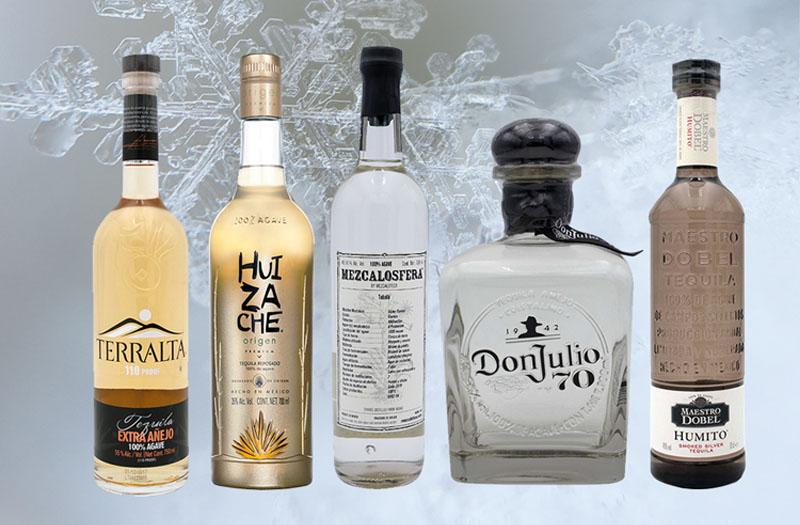 Fünf tequila im Vergleich