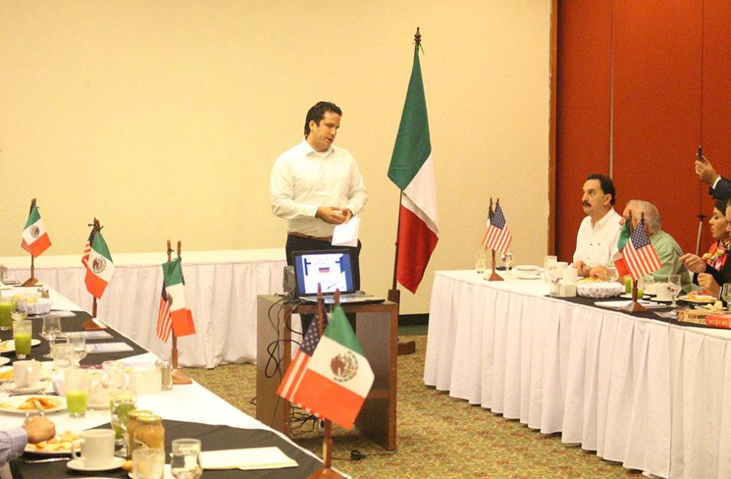 Michael (Aromas of Mexico) in seiner Funktion als Europäischer Repräsentant der Außenhandelskammer Mexiko & USA