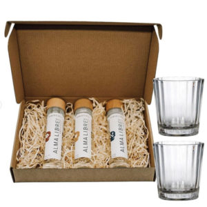 Alma Libre Mezcal Tasting-Set (3 x 0.05 l) + 2 Mezcal Gläser
