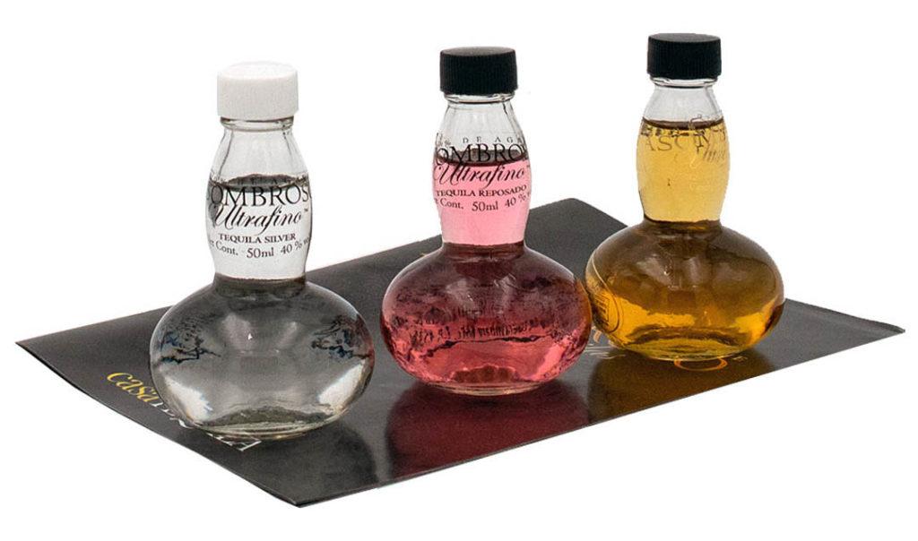 AsomBroso Ultrafino Tequila Tasting Set Blanco, Reposado und Extra Anejo