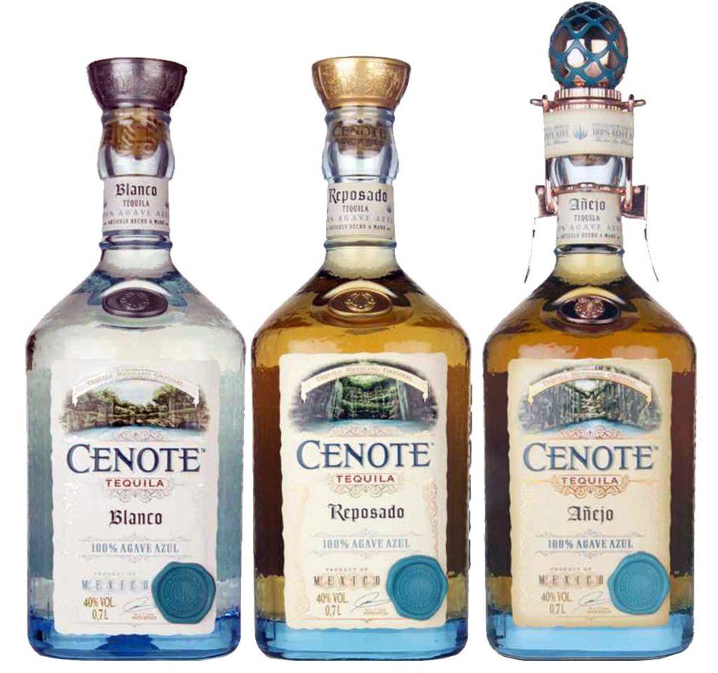Cenote Tequila Blanco, Reposado, Anejo