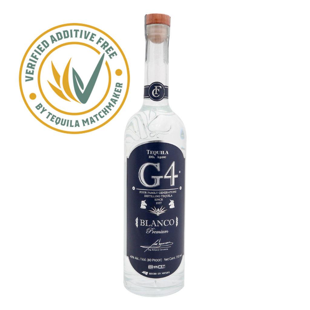 G4 Tequila - Additive Free - Tequila ohne Zusatzstoffe.