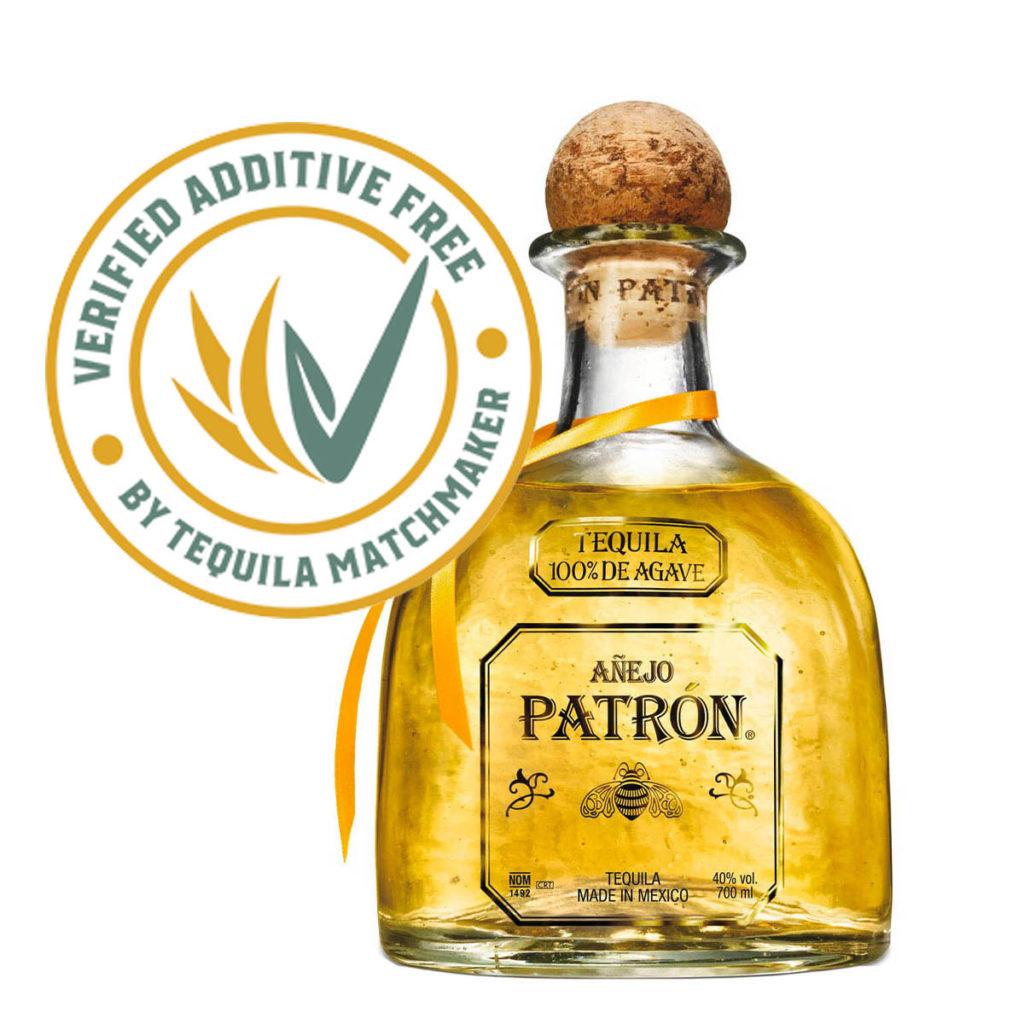 Patron Tequila Anejo. Ohne Zusatzstoffe. 100% de Agave